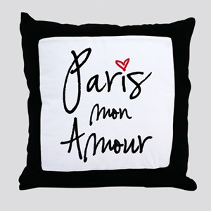 Paris mon amour Throw Pillow